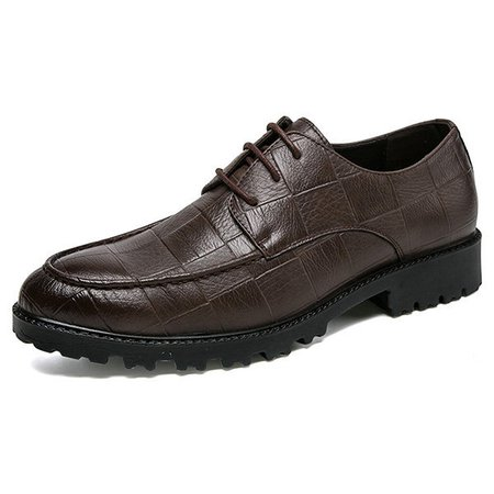 Men Large Size Leather Non-slip Wear-resistant Casual Shoes