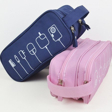 Graffiti Toiletry Cosmetic Bag Purse Must-have High-end Digital Usb Cable Storage Bag