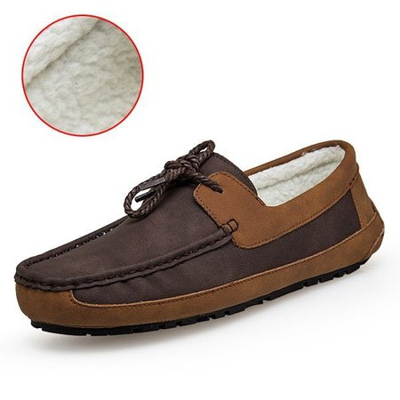 Men Plush Lining Doug Shoes Slip On Warm Loafers