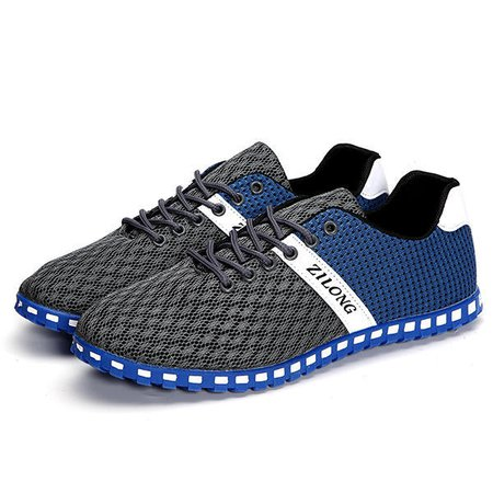 US Size 6.5-11 Men Mesh Breathable Outdoor Flat Sneakers