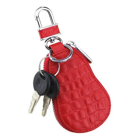 Cute Gourd Type Car Key Holder Microfiber Leather Coin Purse Crocodile Key Bag