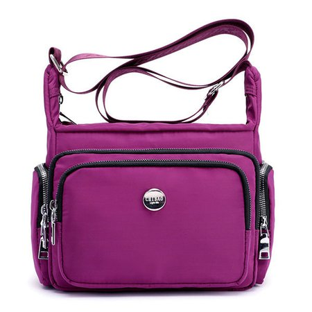 Waterproof Nylon Multi-pockets Leisure Shoulder Crossbody Bags