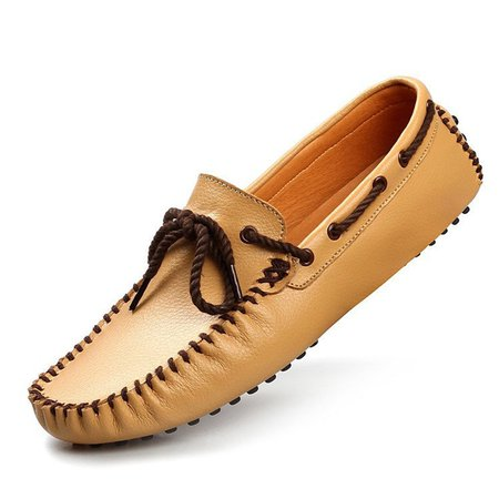 Men Faux Leather Slip On Boat Shoes Moccasins Casual Loafers