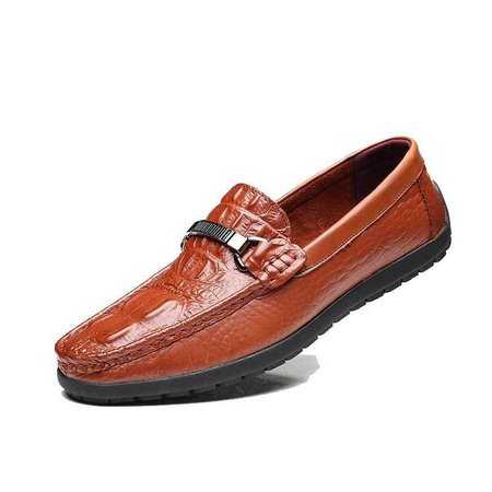 Men Luxury Crocodile Pattern Faux Leather Classic Loafers Slip On Doug Shoes