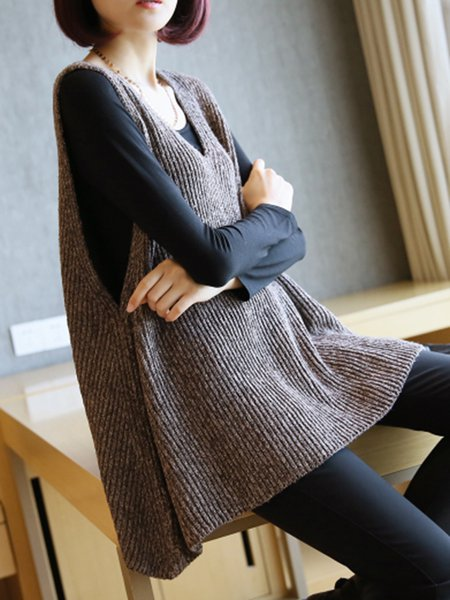 Shift V Neck Sleeveless Sweater