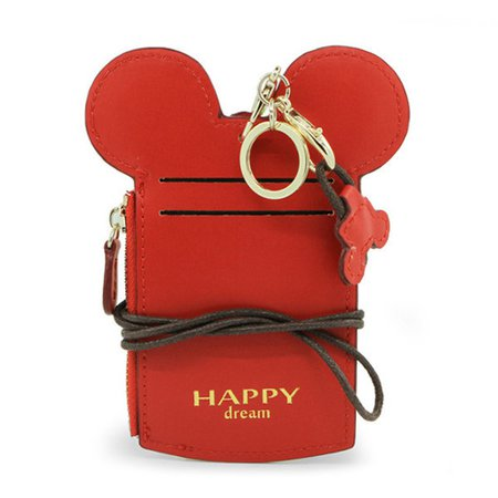 cute animal shape card holder wallet purse neck bag