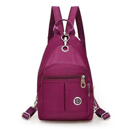Nylon Daily Casual Light Chest Bag Crossbody Bags Backpack For Women