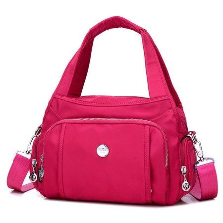 Women Waterproof Nylon Casual Multi Pockets Handbag Crossbody Bag