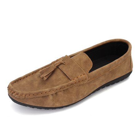 Men's Tassel Decoration British Style Laze Shoes Slip On Flat Casual Loafers