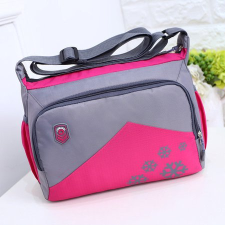 Women Men Nylon Waterproof Durable Vintage Crossbody Bag
