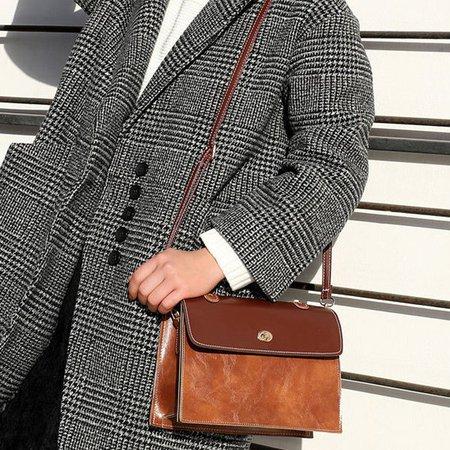 Women Flap Stylish Square Patchwork Crossbody Bag