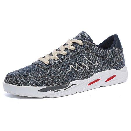 Men Cloth Slip Resistant Lace Up Casual Shoes