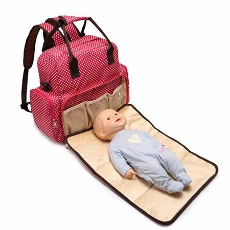 Large Baby Diaper Nappy Backpack Changing Bag Mummy Tote Handbag