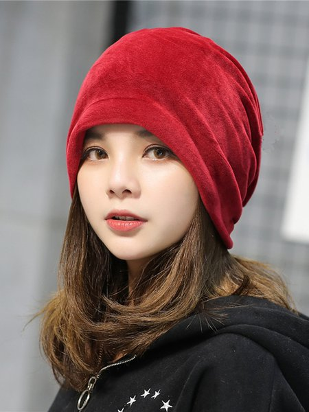 Velvet Casual Solid Hat