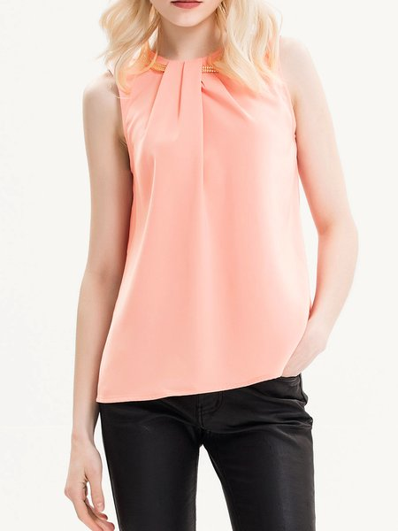 Over The Edge Pink Embellished Tank Top