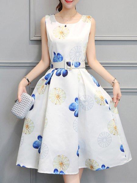 Folds A-line Sleeveless Elegant Party Dress