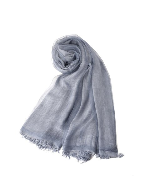 Blue Solid Casual Scarf