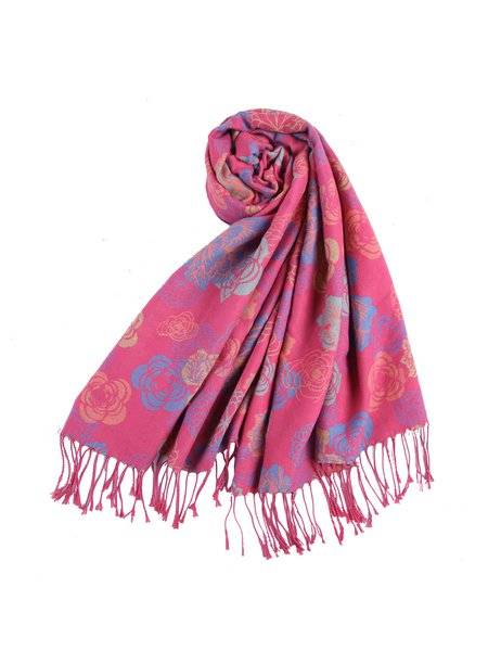 Pink Tribal Polyester Scarf