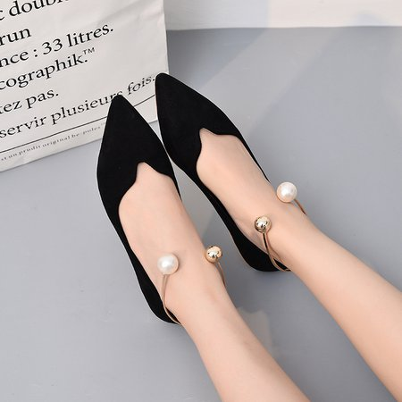 Slip-On Women Pointed Toe Suede Flats