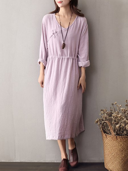 Women Casual Dress Shift Daytime Casual Plain Dress