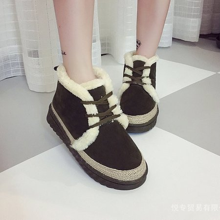 Army Green Lace-Up Women Suede Ankle Boots