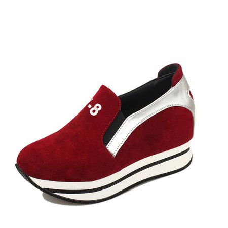 Women Platform Suede Fashion Sneakers