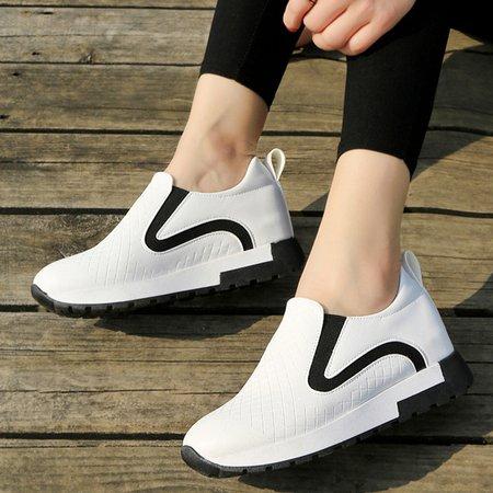 PU Slip-On Women Fashion Sneakers