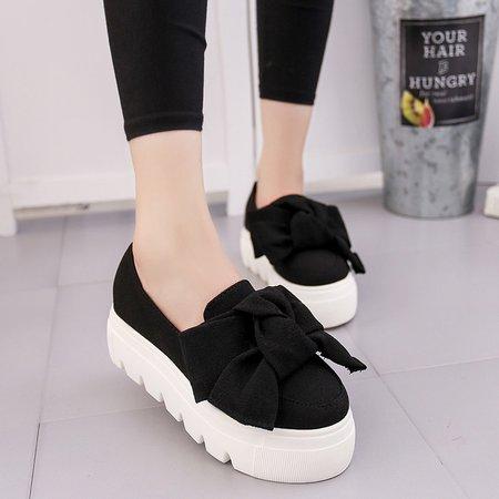 Bow Women Fabric Platform Fashion Sneakers