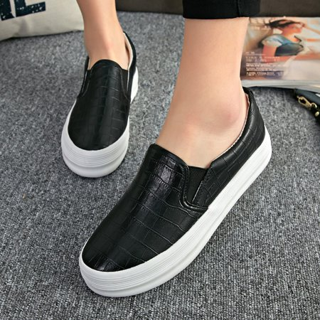 Casual Round Toe Women Platform Loafers