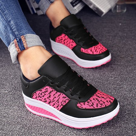 Platform Women Lace-Up Fashion Sneakers