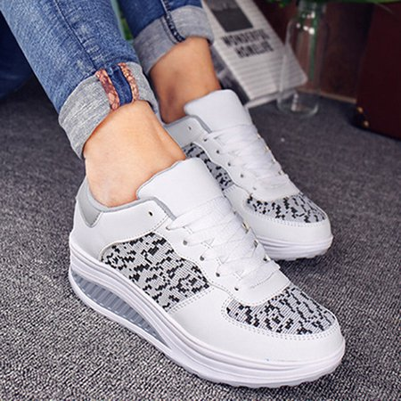 Lace-Up Platform Women Fashion Sneakers