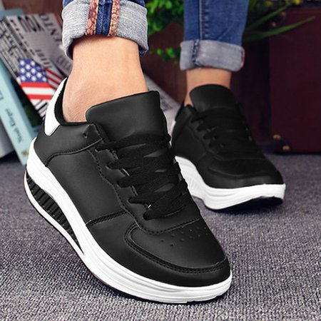 Platform Lace-Up Women Fashion Sneakers
