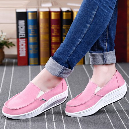 Solid Slip-On Canvas Fashion Sneakers