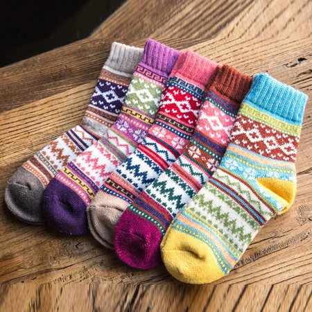 Casual Sheath Tribal Women Socks