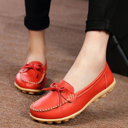 Black Slip-On Round Toe Women's Flats