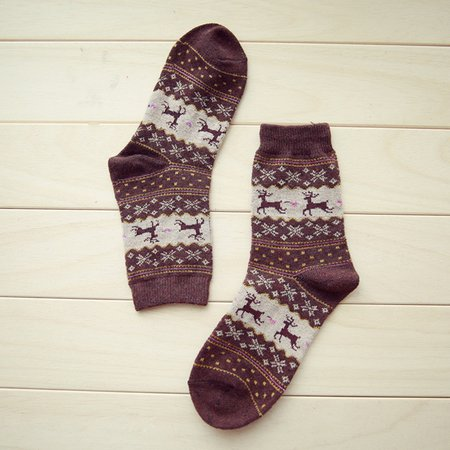 Christmas Sheath Casual Animal Women Socks