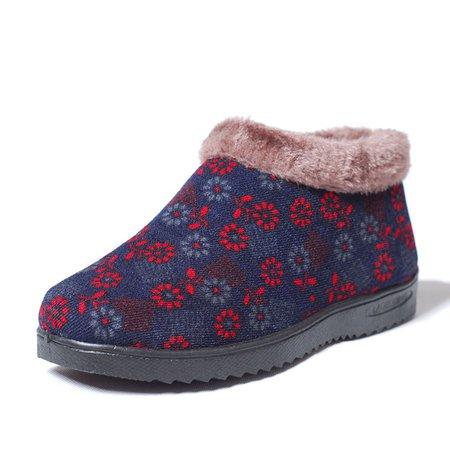 Ankle Slip-On Women Fleece-lined Boots