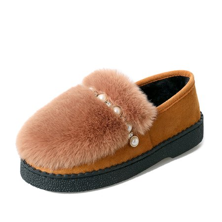 Soft Suede Slip-On Women Round Toe Loafers