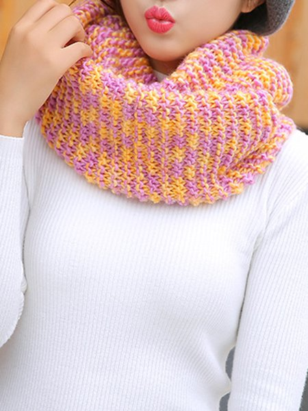 Colorful Knitted Casual Scarf
