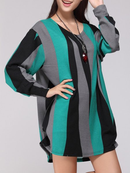 Women Casual Dress Cocoon Daytime Long Sleeve Casual Dress