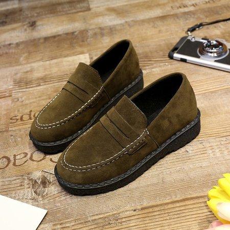 All Season Casual Flat Heel Panel Elegant Solid Loafer