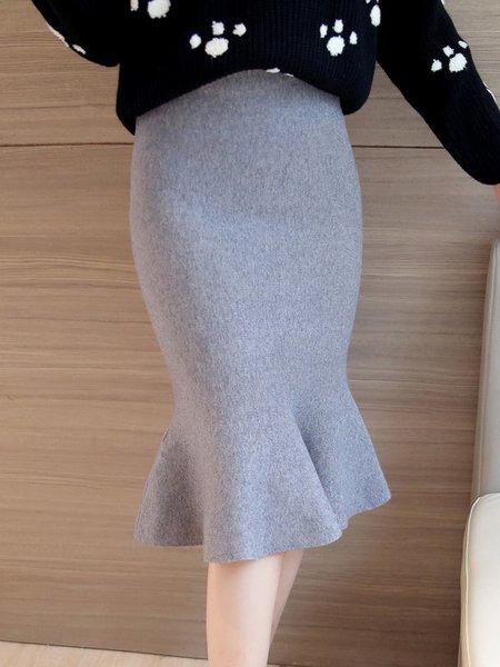 Mermaid Elegant Knitted Skirt
