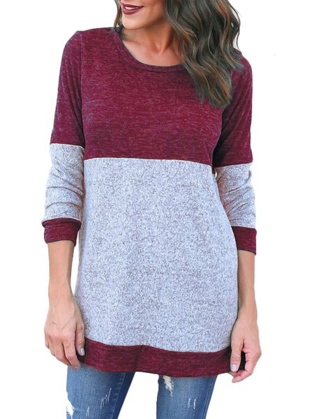 Crew Neck Long Sleeve Knitted Sweater