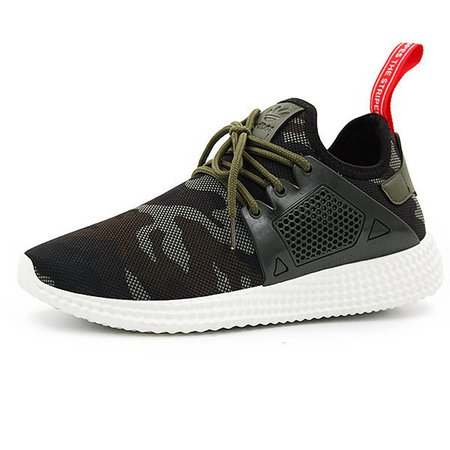 Men Camouflage Pattern Breathable Lace Up Casual Sneakers