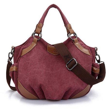 Women Vintage Stylish Casual Durable Canvas Hobo Handbag Crossbody Bag