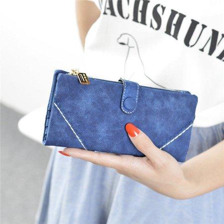 Women Pu Leather Wallet Zipper Phone Bag Coin Card Holder Long Purse