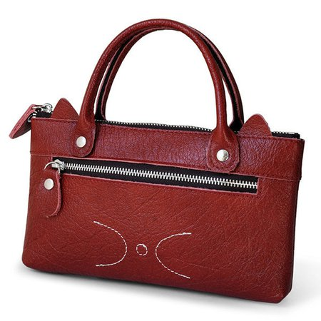 PU Leather Phone Purse Cute Pattern Handbag For Women