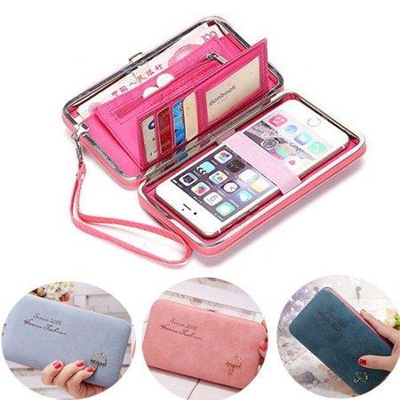Exquisite Universal Women Umbrella Pattern 5.5 Inch Phone Wallet Case Purse