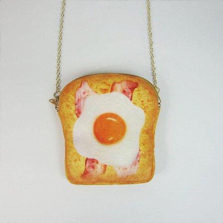 Plush Toast Cartoon Lovely Egg Style Chain Phone Purse Crossbody Bags