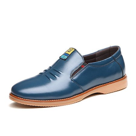 Men Pointed Toe Soft Slip On Business Formal Casual Shoes